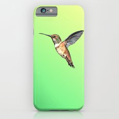 flying hummingbird watercolor sketch Slim Case iPhone 6s