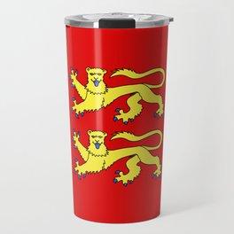 flag of normandie Travel Mug