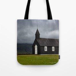Budir black church Snæfellsnes Peninsula Iceland Tote Bag