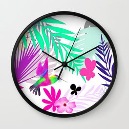 Full Exotic Wall Clock