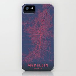 Medellin, Colombia - Neon iPhone Case