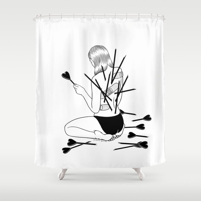 I Fall In Love Too Easily Shower Curtain