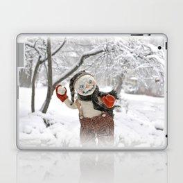 Rucus Studio Snow Day! Snowman Laptop & iPad Skin