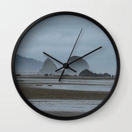 Haystack Rock on Cannon Beach Wall Clock