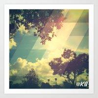 Abstract Sky prints by KIIRAVA Art Print
