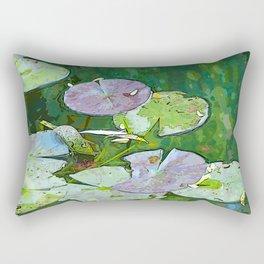 Monet's Water Garden Rectangular Pillow