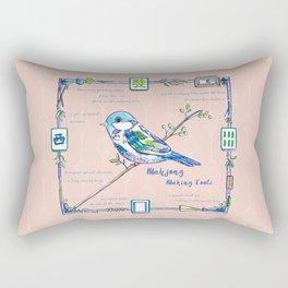 Lovely Sparrow - Mahjong Rectangular Pillow
