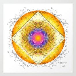 Mandala Blanca Art Print