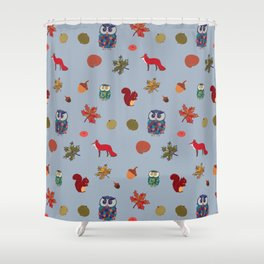 Fall Animal Party Shower Curtain