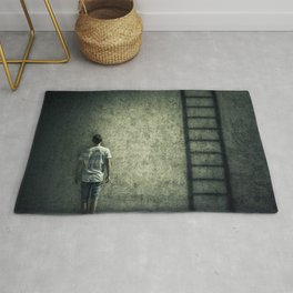 imaginary stairway escape Rug