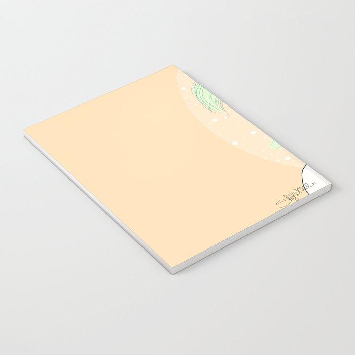 Green Hair Girl Notebook