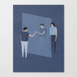 """""""What Happiness in the Future Will Mean"""" by Naftali Beder for Nautilus Canvas Print"""
