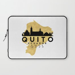 QUITO ECUADOR SILHOUETTE SKYLINE MAP ART Laptop Sleeve