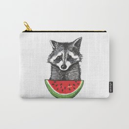 Racoon and watermelon Carry-All Pouch