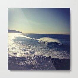 Curly Waves Metal Print