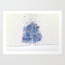 Love Tree Art Print