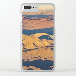 Andes Mountains Desert Aerial Landscape Scene Clear iPhone Case