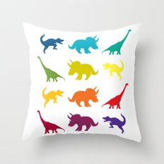 Dino Parade Throw Pillow