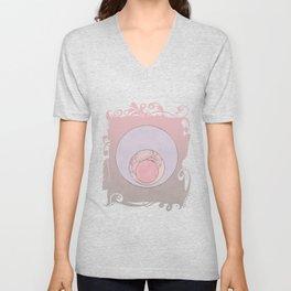 Soft Pastel Elegant Circles Unisex V-Neck