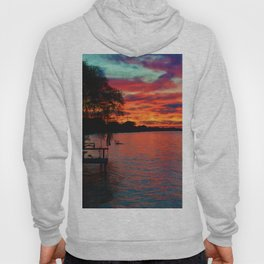 Sunset on Lake St. Clair in Belle River, Ontario, Canada Hoody
