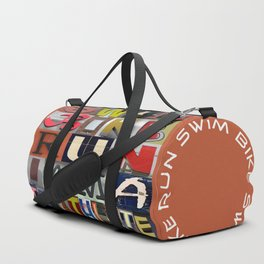 SWIM BIKE RUN I AM A TRIATHLETE 07 Duffle Bag