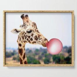Bubble Gum Giraffe Serving Tray