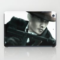 johnny depp iPad Cases featuring Johnny Depp// John Dillinger by Greg Gonzalez