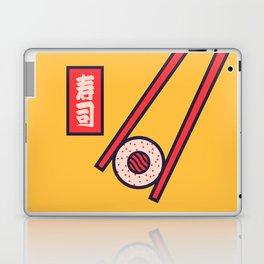Sushi Minimal Japanese Food Chopsticks - Yellow Laptop & iPad Skin