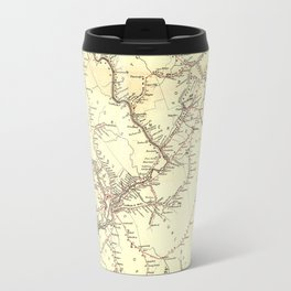 Vintage New Jersey Railroad Map (1869) Travel Mug