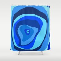 geode Shower Curtains featuring Geode by Sarah P