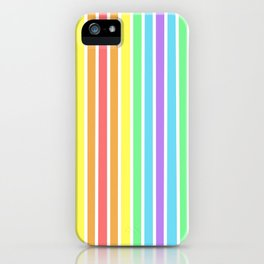 Pastel Candy Colored Stripes iPhone Case