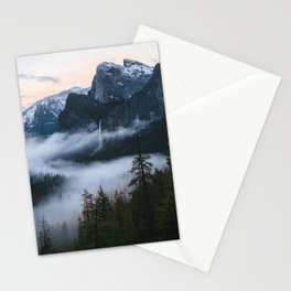 Three Brothers at Sunrise | Yosemite National Park, CA Stationery Cards
