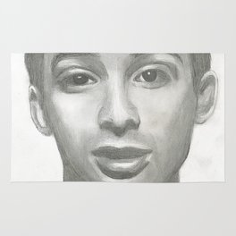 Ad Rock Portrait Drawling Rug