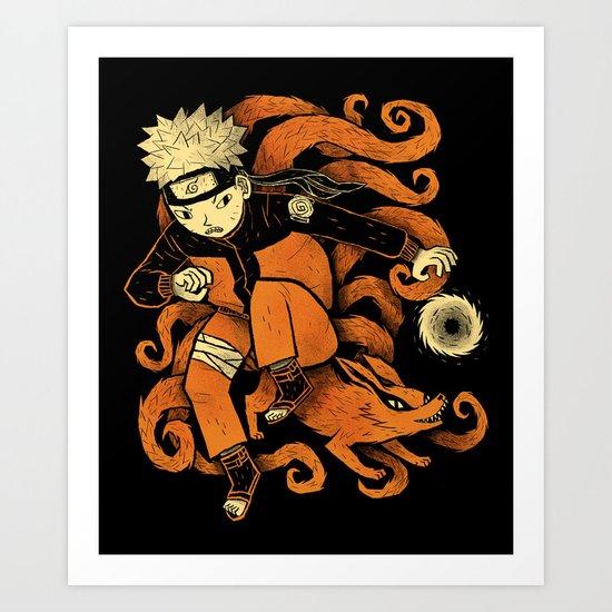 nine tails. Art Print