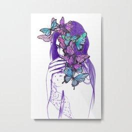 Amongst Butterflies Metal Print