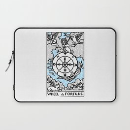 Geometric Tarot Print - Wheel of Fortune Laptop Sleeve