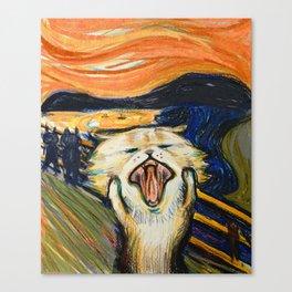 The Scream: Cat version Canvas Print