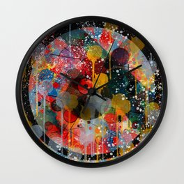 Kandinsky Action Painting Street Art Colorful Wall Clock