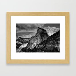 Half Dome Chrome Framed Art Print
