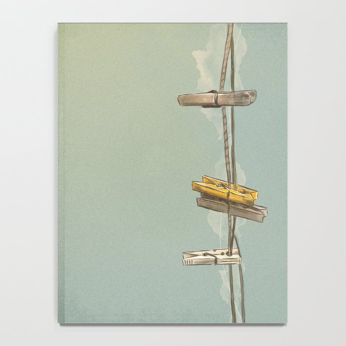 Vintage Clothespin Notebook