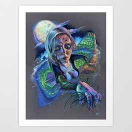 Night of the Living Buffy Art Print