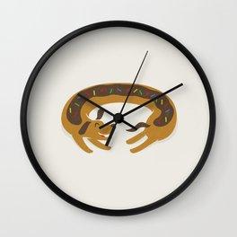 Sprinkled Dognut Wall Clock