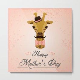 Happy Mother's Day ~ Giraffe Metal Print
