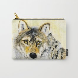 Totem Grey wolf Carry-All Pouch