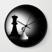 chess Wall Clocks featuring Pion Chess by ArtSchool