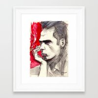 nick cave Framed Art Prints featuring Nick Cave by Smog