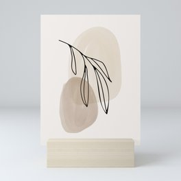 Watercolor Shapes And Abstract Leaf Mini Art Print