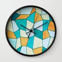 square Wall Clocks featuring Square by sinonelineman