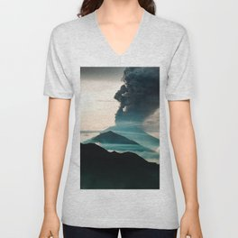 Mount Agung Volcanic Eruption Unisex V-Neck