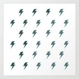 Bolt - Grey Art Print